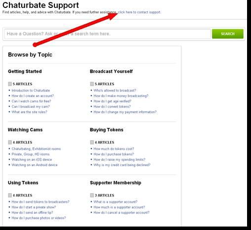 Chaturbate customer support