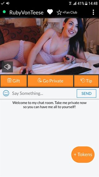 Cams.com rooms when viewed upright on your phone