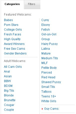 Screenshot of iFriends Categories