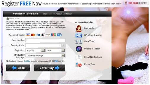 Screenshot of iFriends Signup Form Part 2