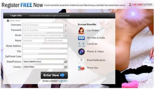 Screenshot of iFriends Signup Form Part 1